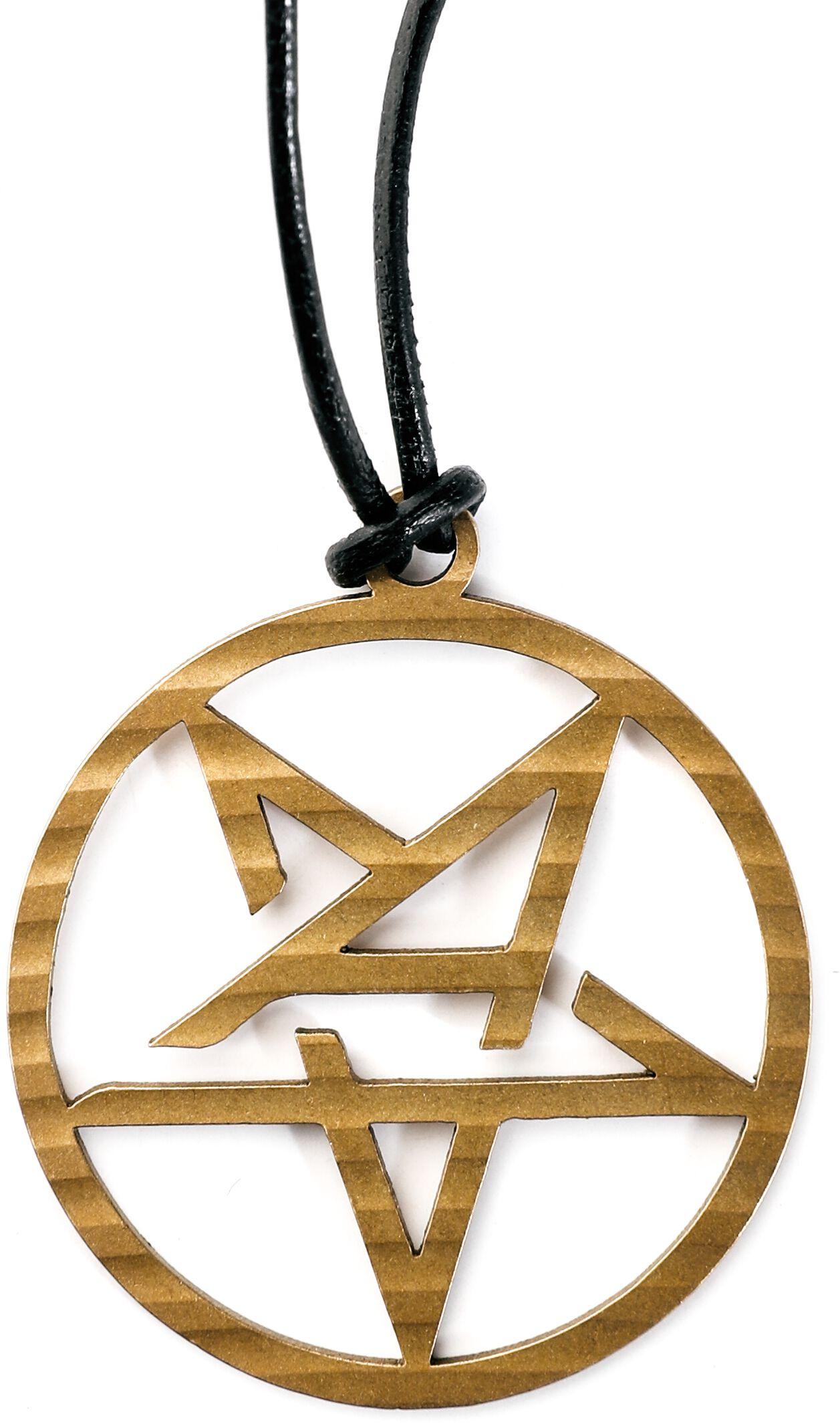 Image of Anthrax Anthrax Logo Halskette bronzefarben