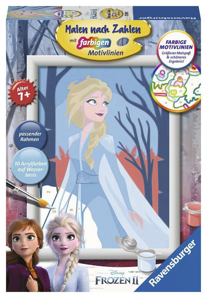 Image of Die Eiskönigin 2- Elsa - Malen nach Zahlen Brettspiel multicolor
