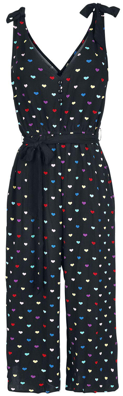 Hell Bunny True Love Jumpsuit Jumpsuit schwarz HLB50116