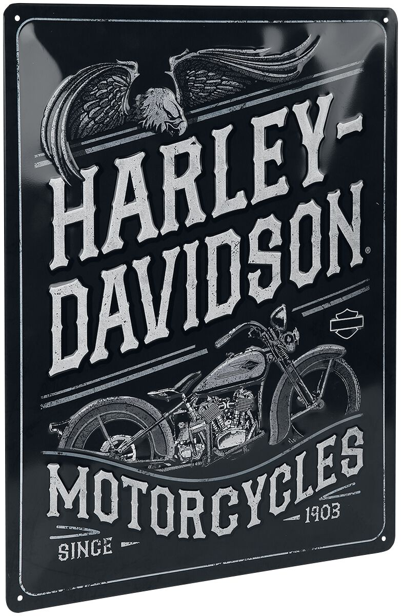 Image of Harley-Davidson Motor Cycles Blechschild multicolor