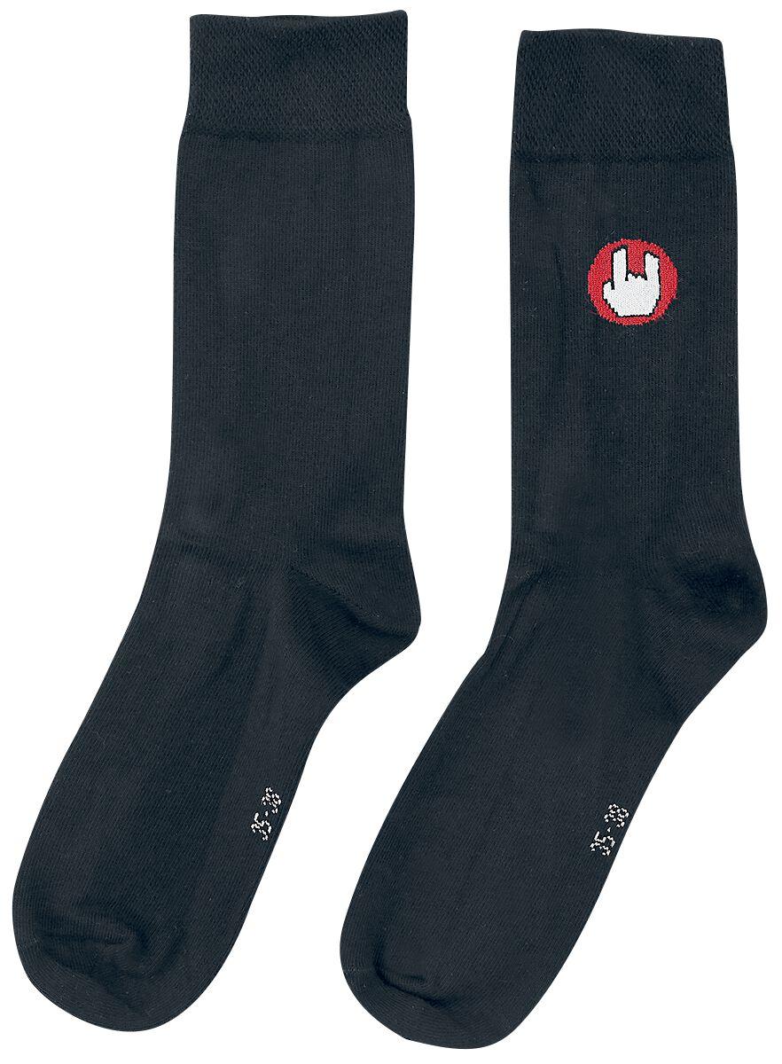 EMP Basic Collection Schwarze Socken mit EMP-Logo Socken schwarz M437448