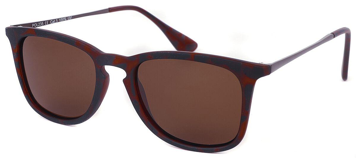Schildpatt Sonnenbrille braun schwarz POL235-2