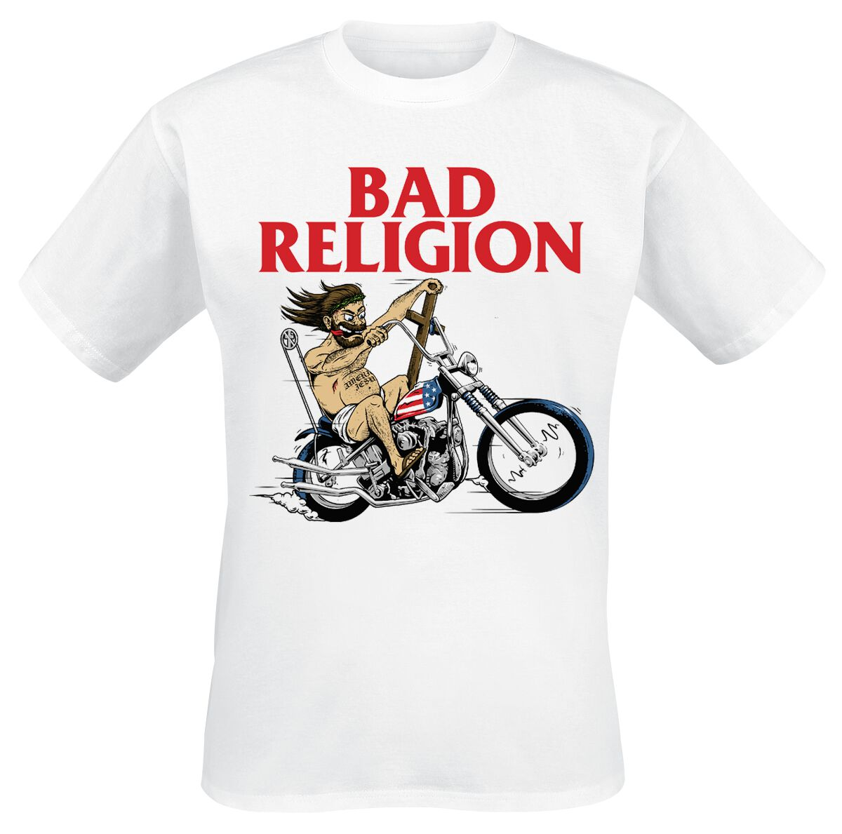 Image of Bad Religion American Jesus T-Shirt weiß
