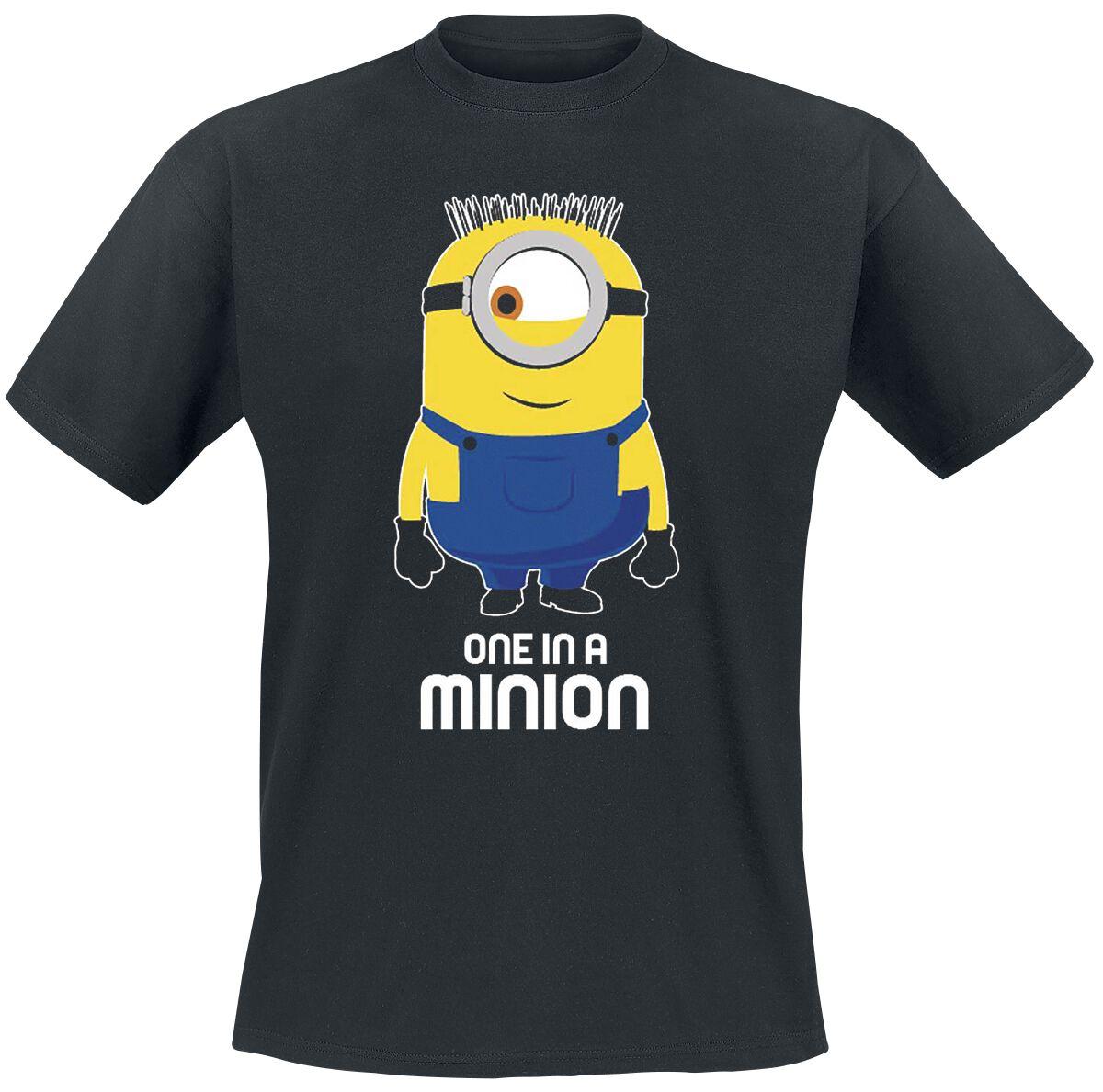 Minions One In A Minion T-Shirt schwarz Indie2624