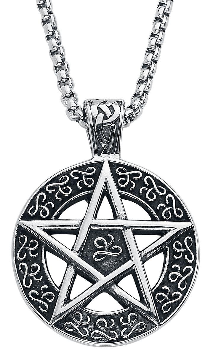 Pentagramm Halskette silberfarben AWNL 192925- E020-Mom