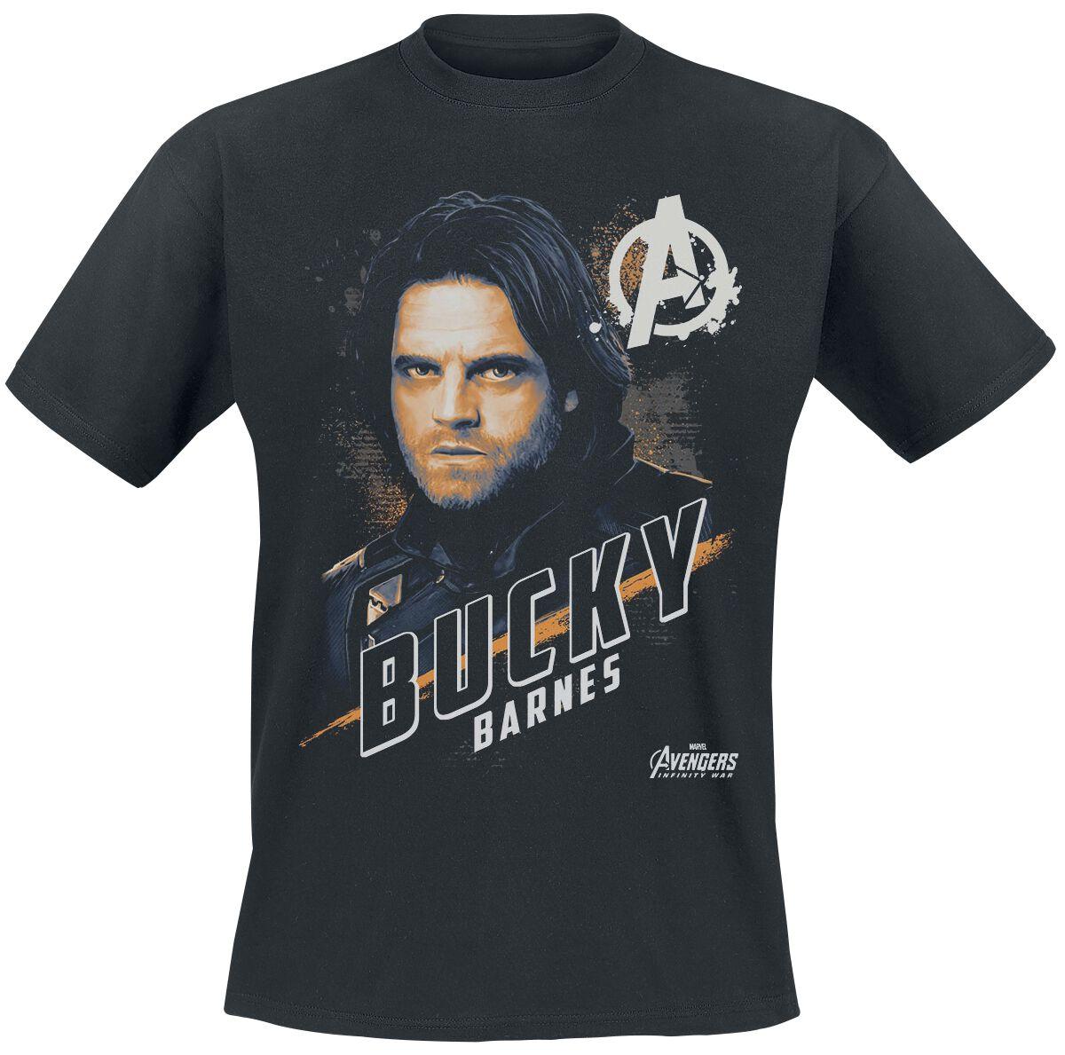 Avengers Bucky Barnes T-Shirt schwarz POD - 18MARL00123A - MRVL - 1323