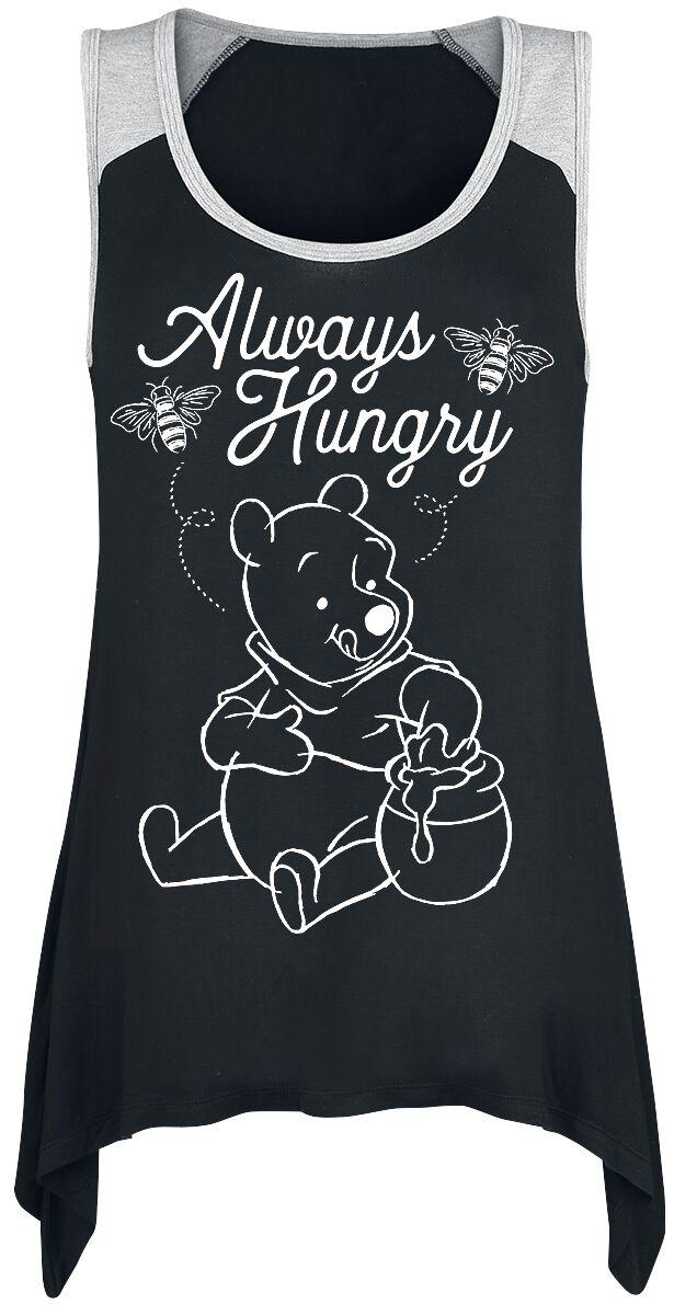 Winnie The Pooh Always Hungry  Top  schwarz/grau