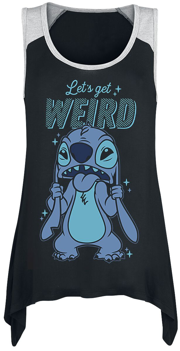 Lilo and Stitch Let's Get Weird  Top  schwarz/grau
