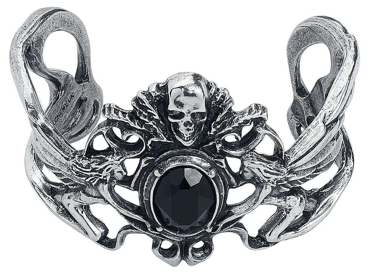 Image of Alchemy Gothic La Fleur de Baudelaire Bangle Armreif silberfarben