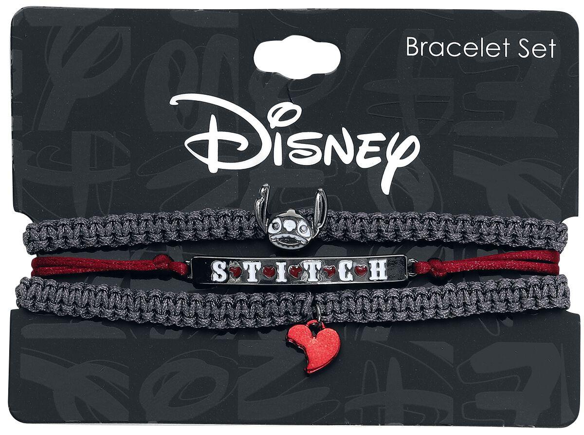 Image of Lilo and Stitch Stitch Skelett Armband-Set schwarz/rot