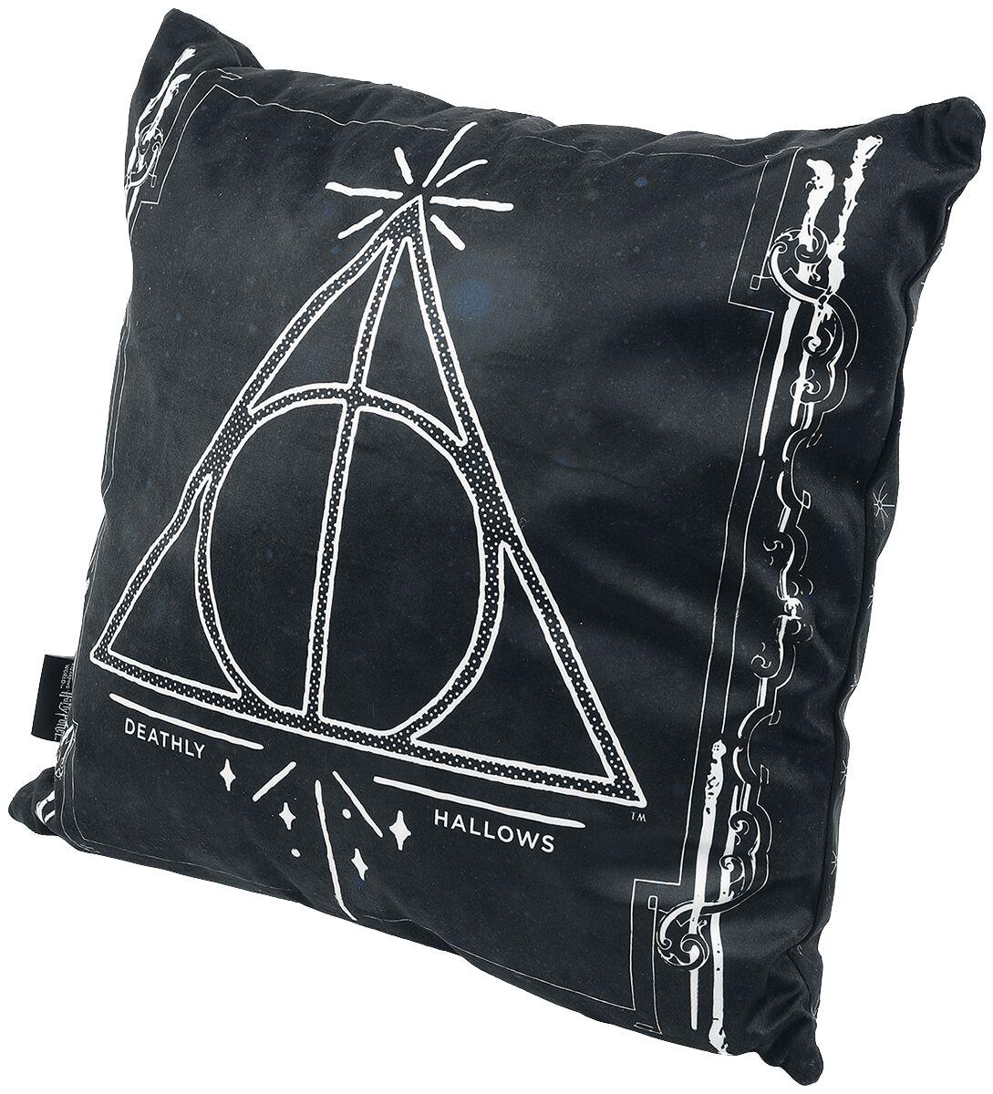 Harry Potter - Heiligtümer des Todes - Kissen - schwarz|weiß - EMP Exklusiv!