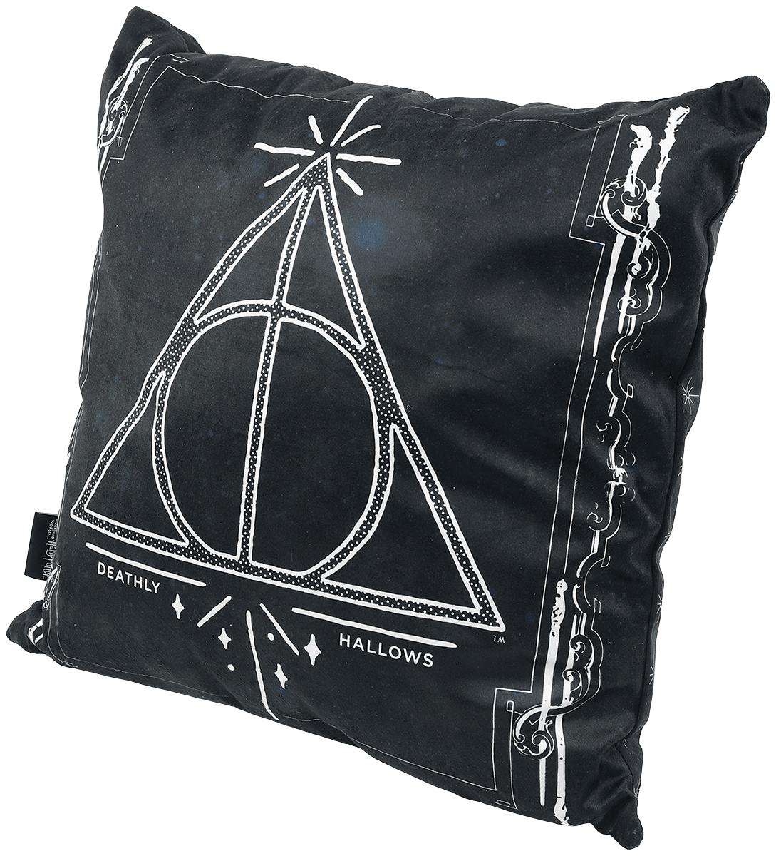 Harry Potter - Heiligtümer des Todes - Kissen - schwarz| weiß - EMP Exklusiv!
