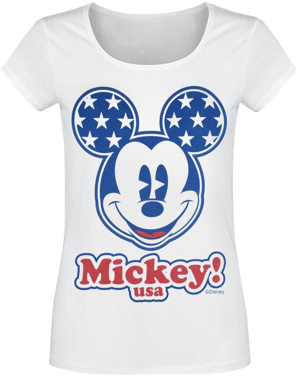 Micky Maus Mickey! USA T-Shirt weiß WODMICKTS120