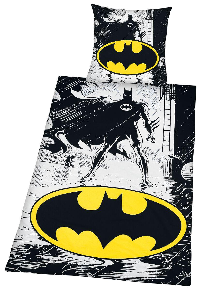 Batman - Comic - Bettwäsche - weiß gelb schwarz