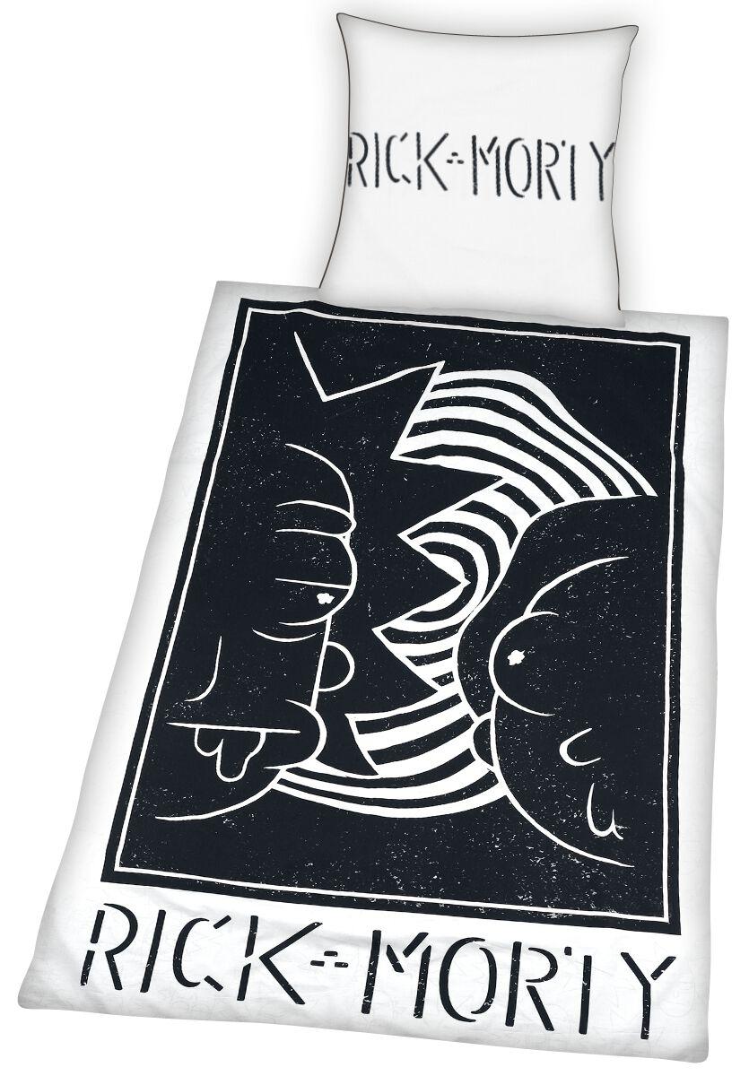 Rick And Morty -  - Bettwäsche - schwarz weiß