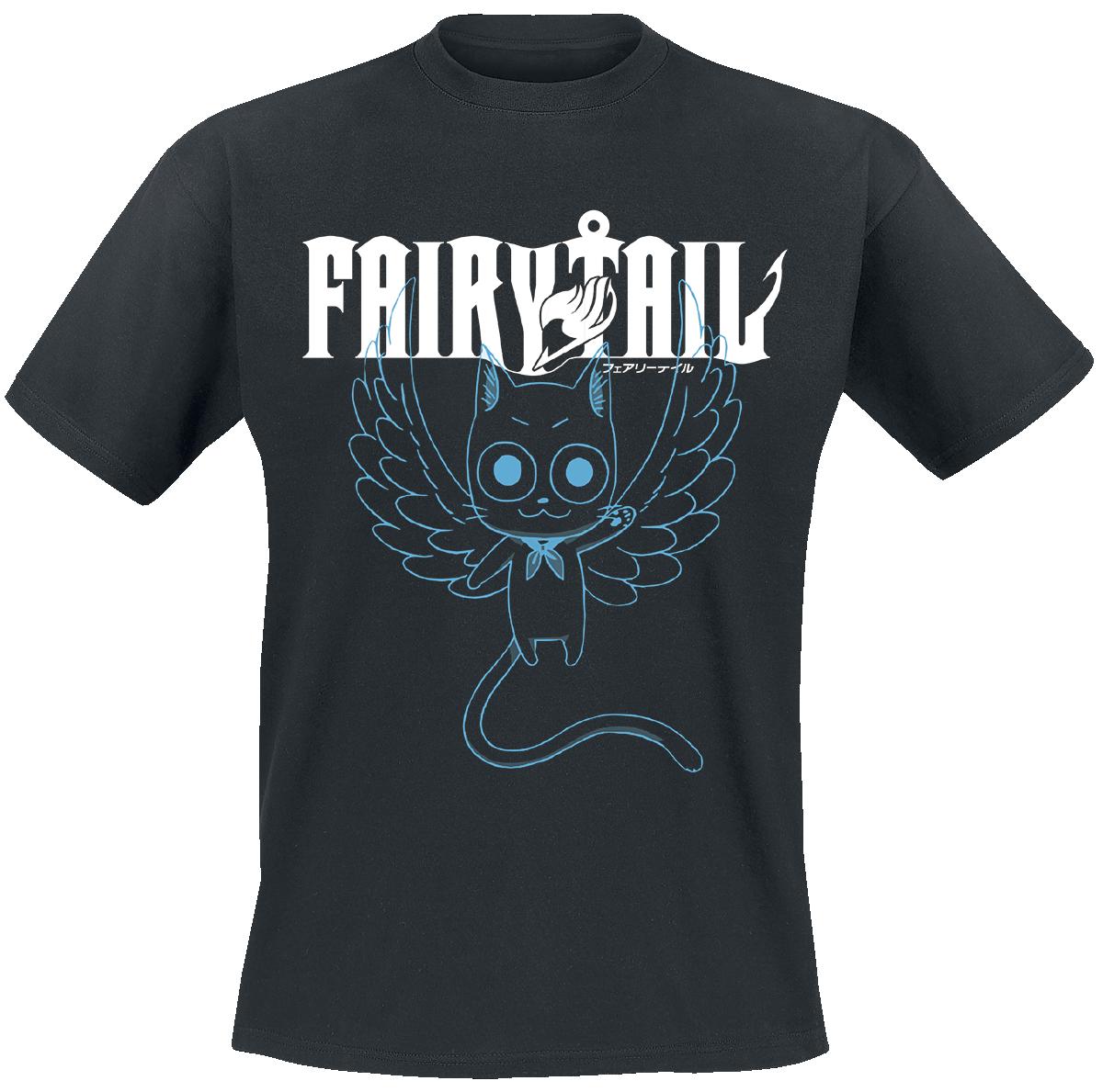 Fairy Tail - Happy - T-Shirt - schwarz