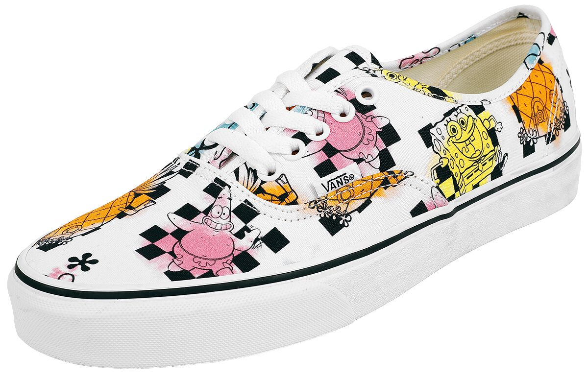 Vans Authentic Spongebob airbrush Sneaker weiß VN0A5HZSZAS1, airbrush