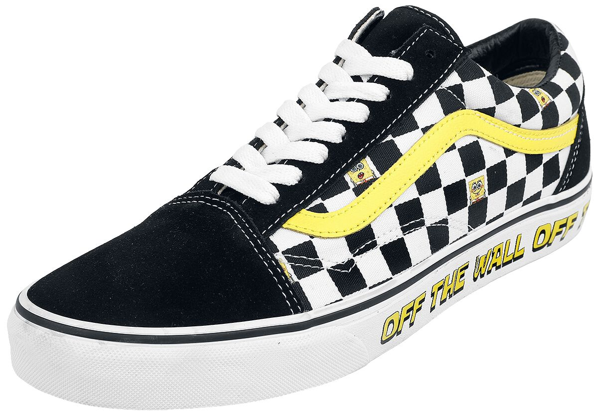 Vans Old Skool Spongebob Off The Wall  Sneaker  schwarz/weiß