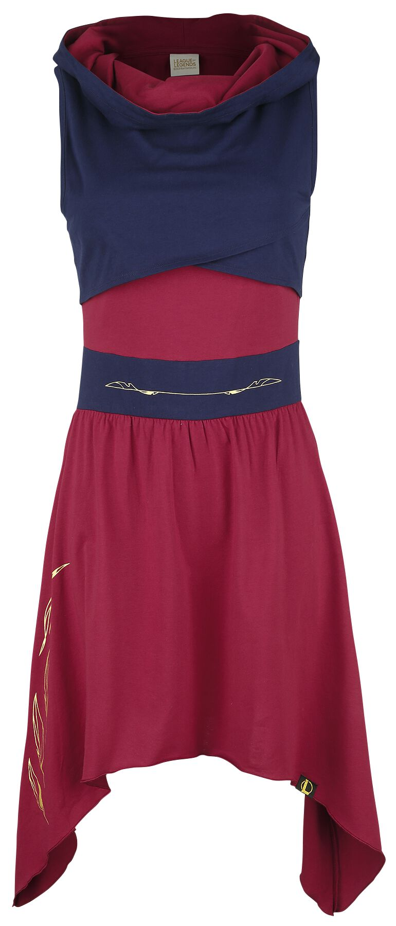 League Of Legends Xayah Mittellanges Kleid rot blau M430250