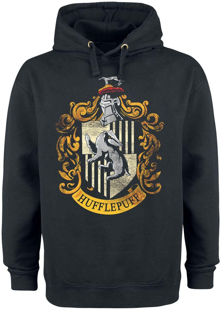 Harry Potter Hufflepuff  Kapuzenpullover  schwarz