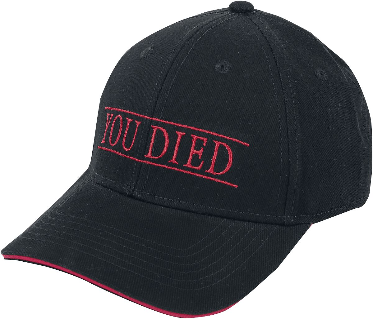 Image of Demon´s Souls You Died Baseball-Cap schwarz