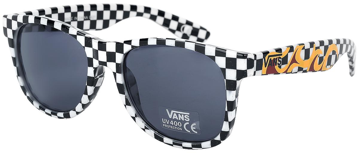 Vans - Spicoli 4 Shades Black/White Check/Flame - Sonnenbrille - schwarz| weiß