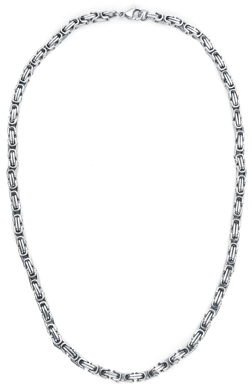 etNox hard and heavy Königskette Halskette silberfarben SKK0460