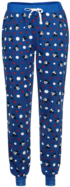 Micky Maus - Dots - Pyjama-Hose - blau - EMP Exklusiv!