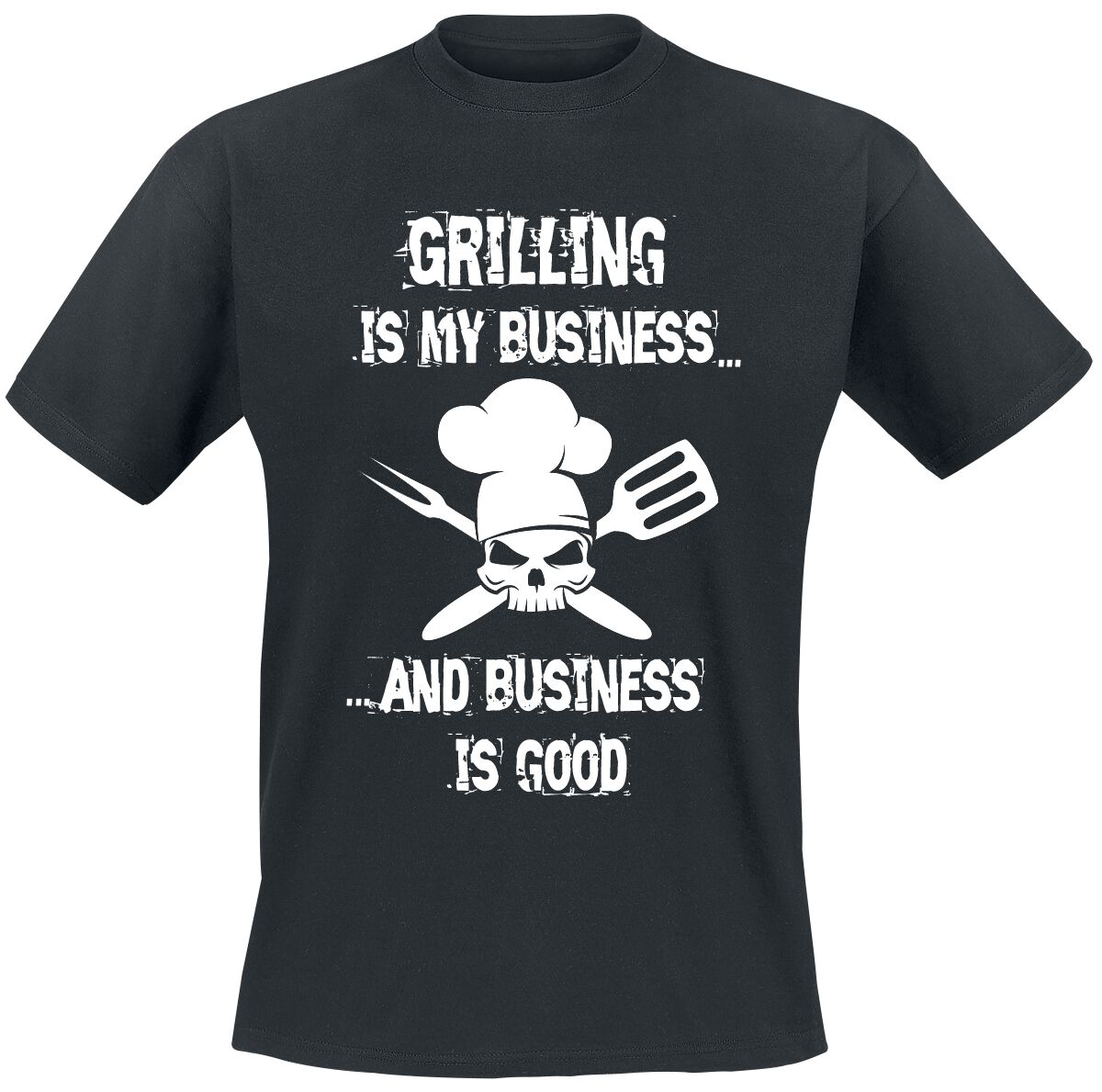 Grilling Is My Business... T-Shirt schwarz T2633