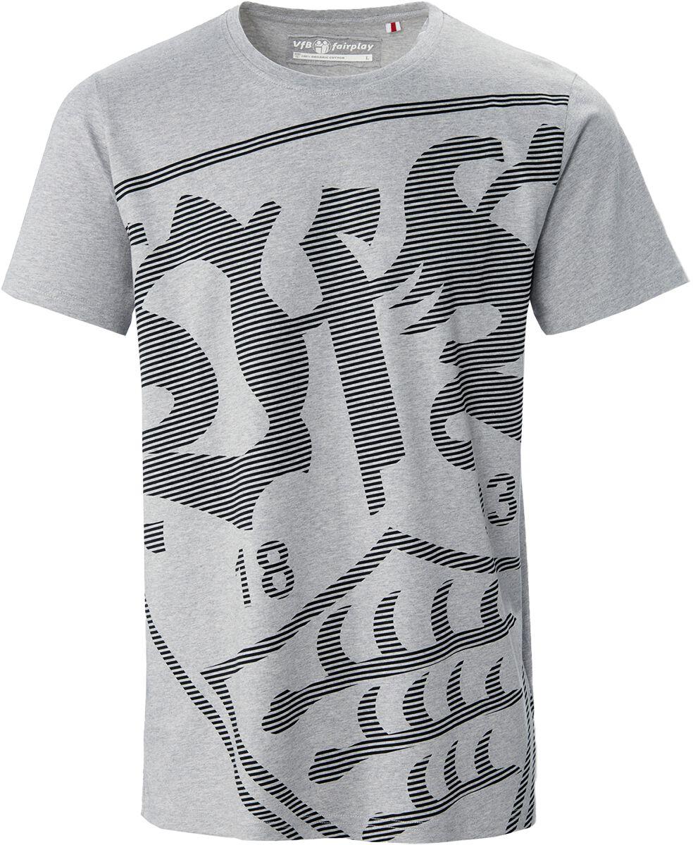 VfB Stuttgart Wappen groß T-Shirt grau 19271