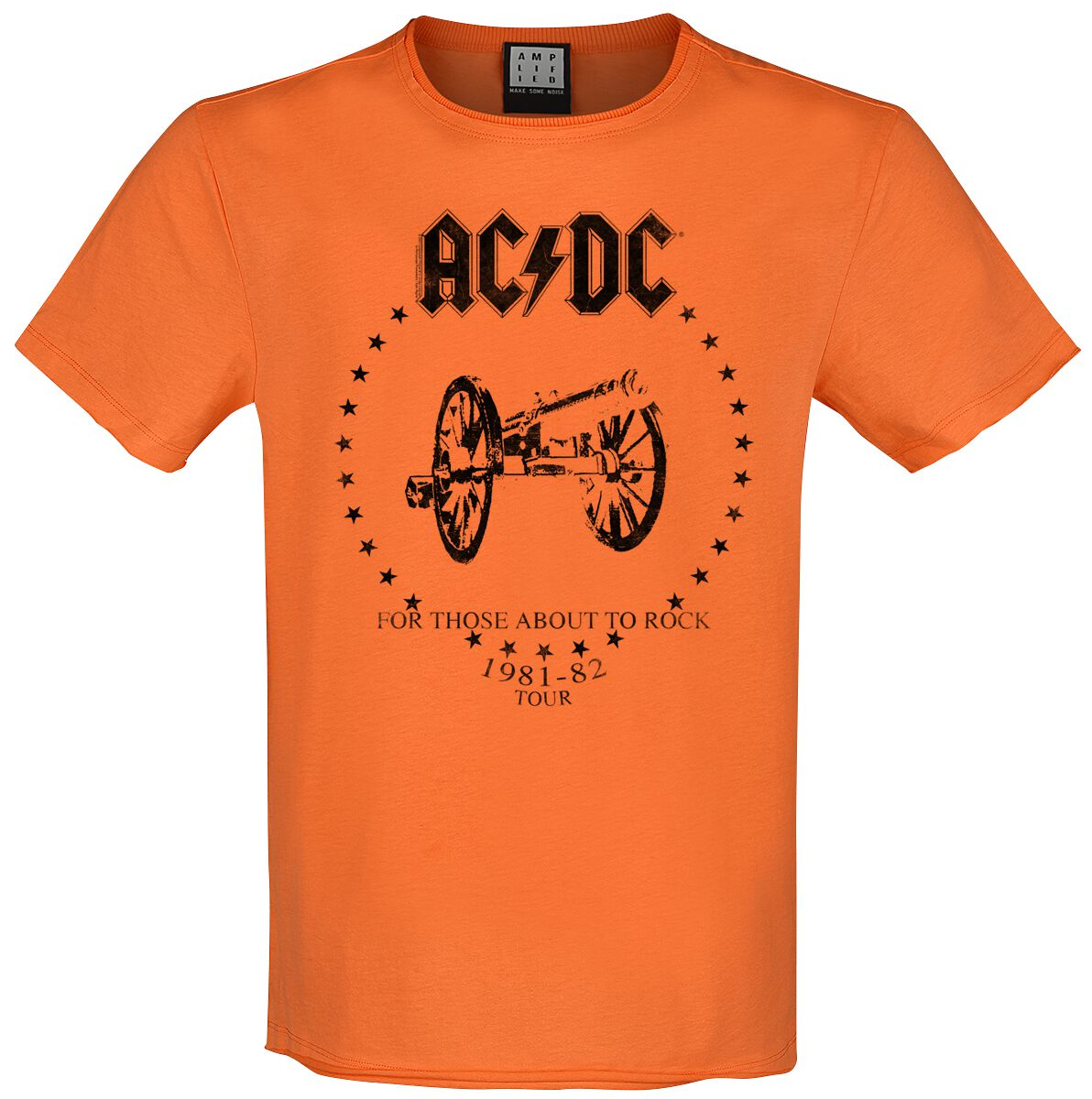 Image of AC/DC Amplified Collection - For Those About To Rock T-Shirt orange