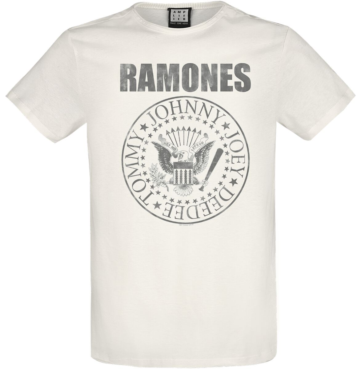 Ramones - Amplified Collection - Vintage Shield - T-Shirt - Uomo - bianco