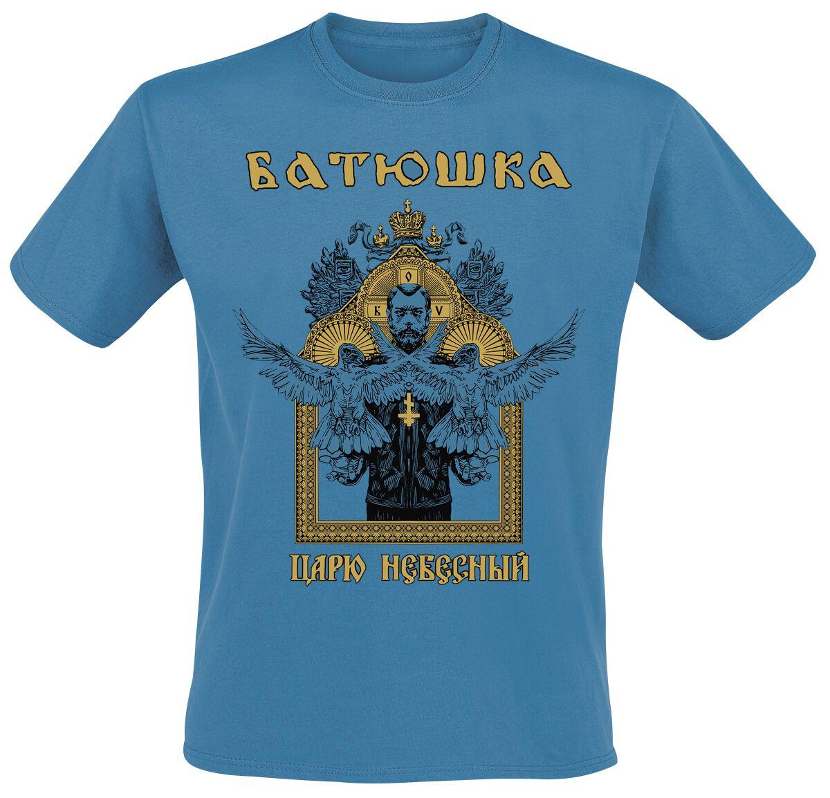 Image of Batushka Heavenly King T-Shirt blau