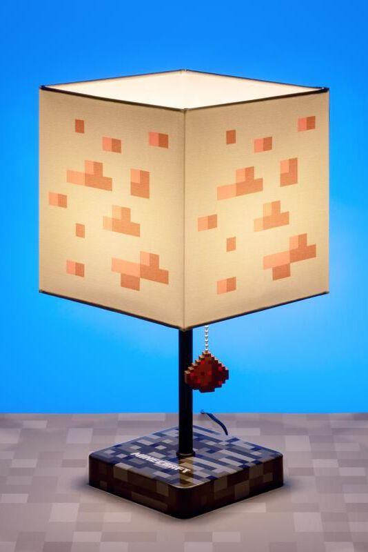 Minecraft Minecraft Lampe Tischlampe weiß rot PP6597MCFE U
