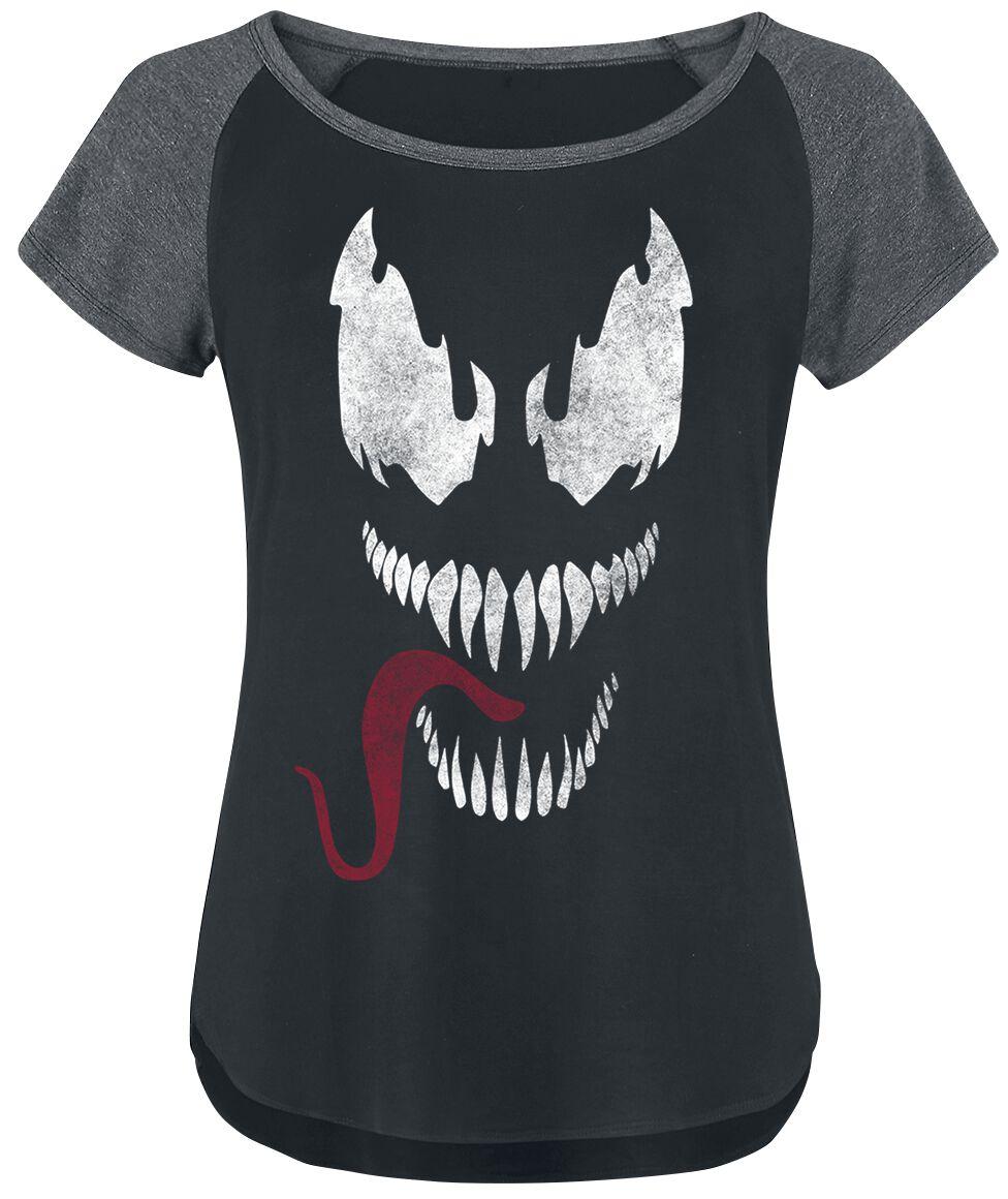 Venom (Marvel) - Tongue - T-Shirt - schwarz|grau - EMP Exklusiv!