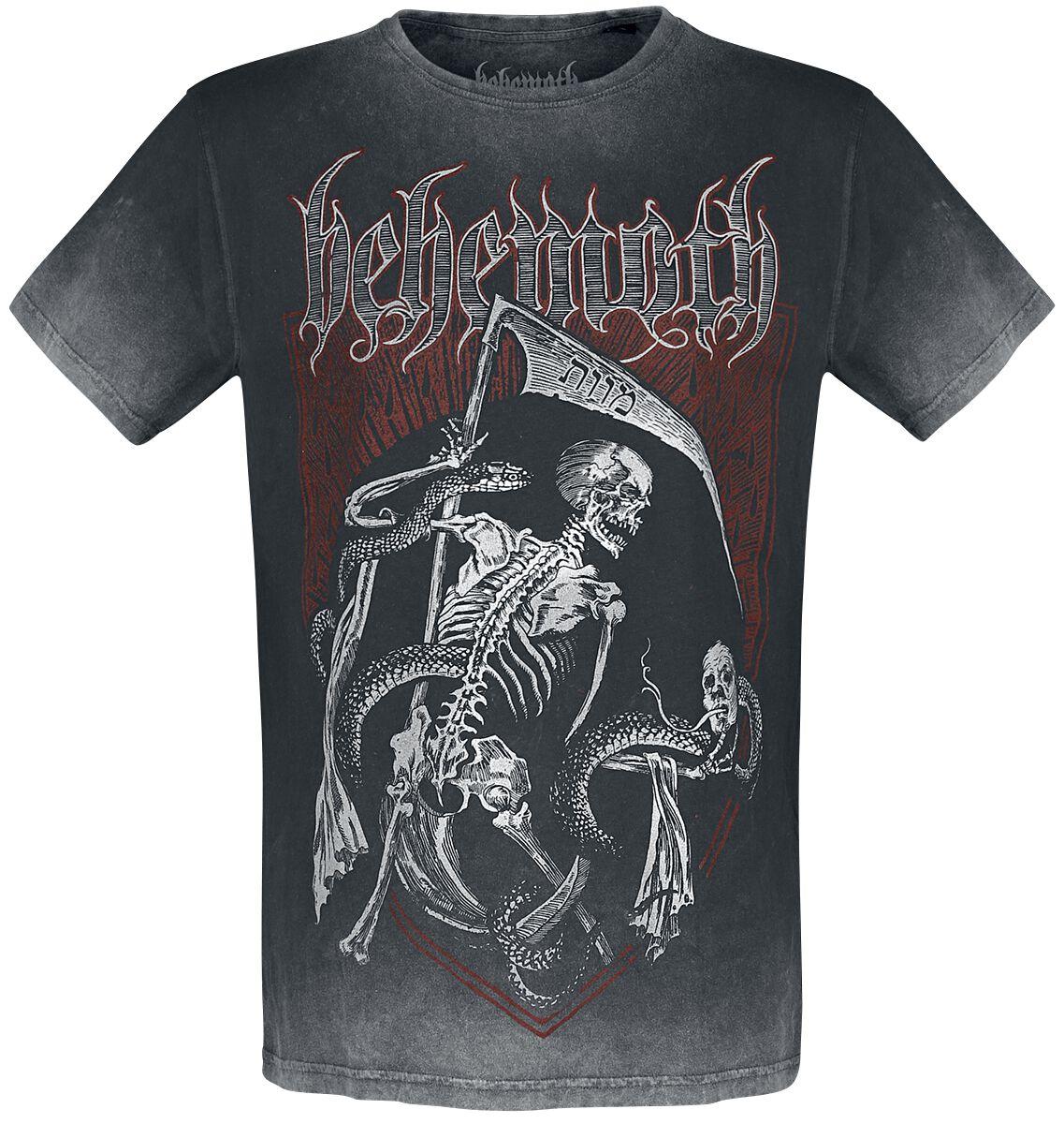 Image of Behemoth Death Entity T-Shirt hellgrau/schwarz