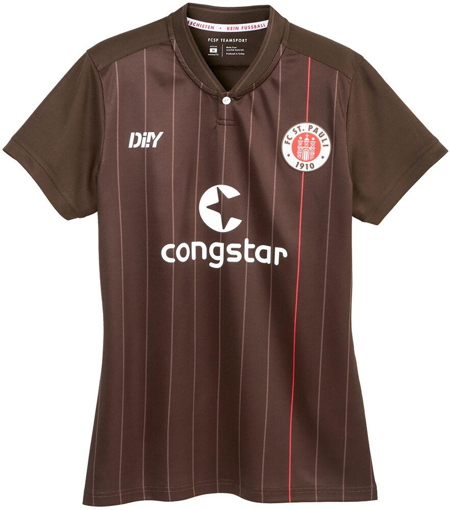 FC St. Pauli Trikot Heim tailliert 2021-22 Trikot braun SP3321003