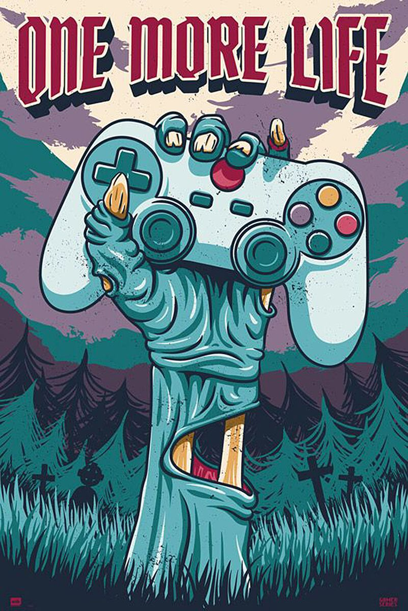 Controller One More Life Poster multicolor G873010