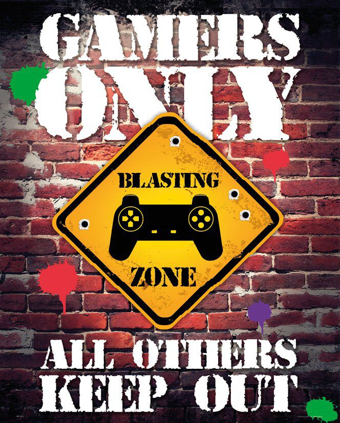 Gamers Only Controller Keep Out Poster multicolor MP1870