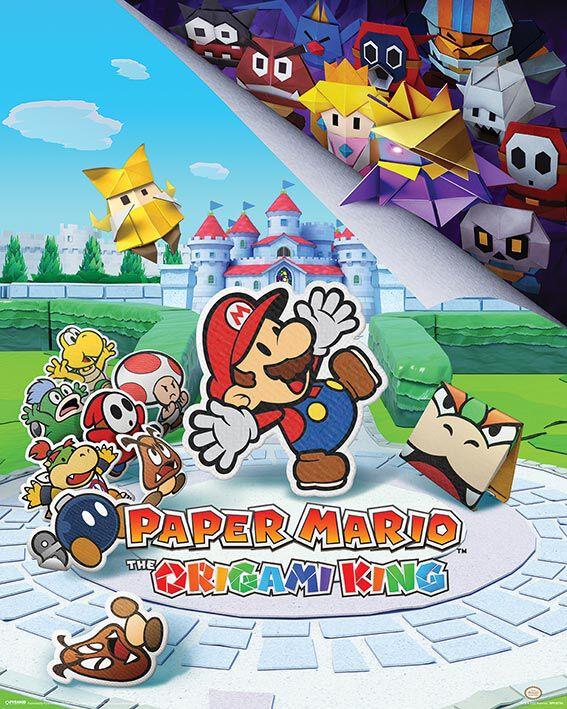 Image of Super Mario - Paper Mario (The Origami King) - Poster - Unisex - multicolore