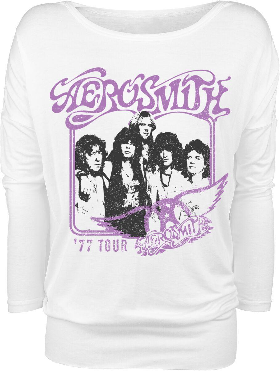 Image of Aerosmith Tour 77 Girl-Longsleeve weiß