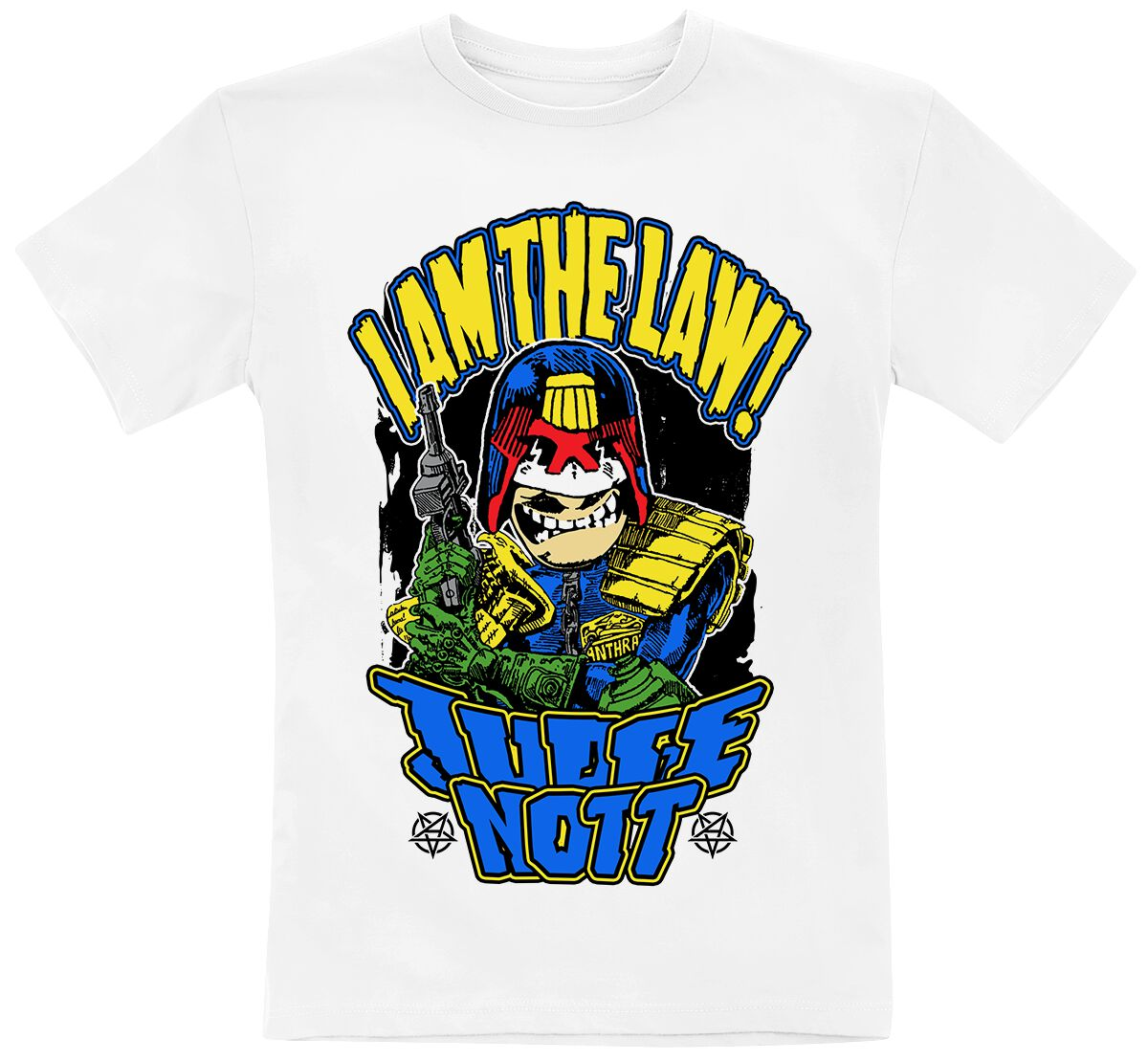 Image of Anthrax Kids Collection - Judge Nott Kinder-Shirt weiß