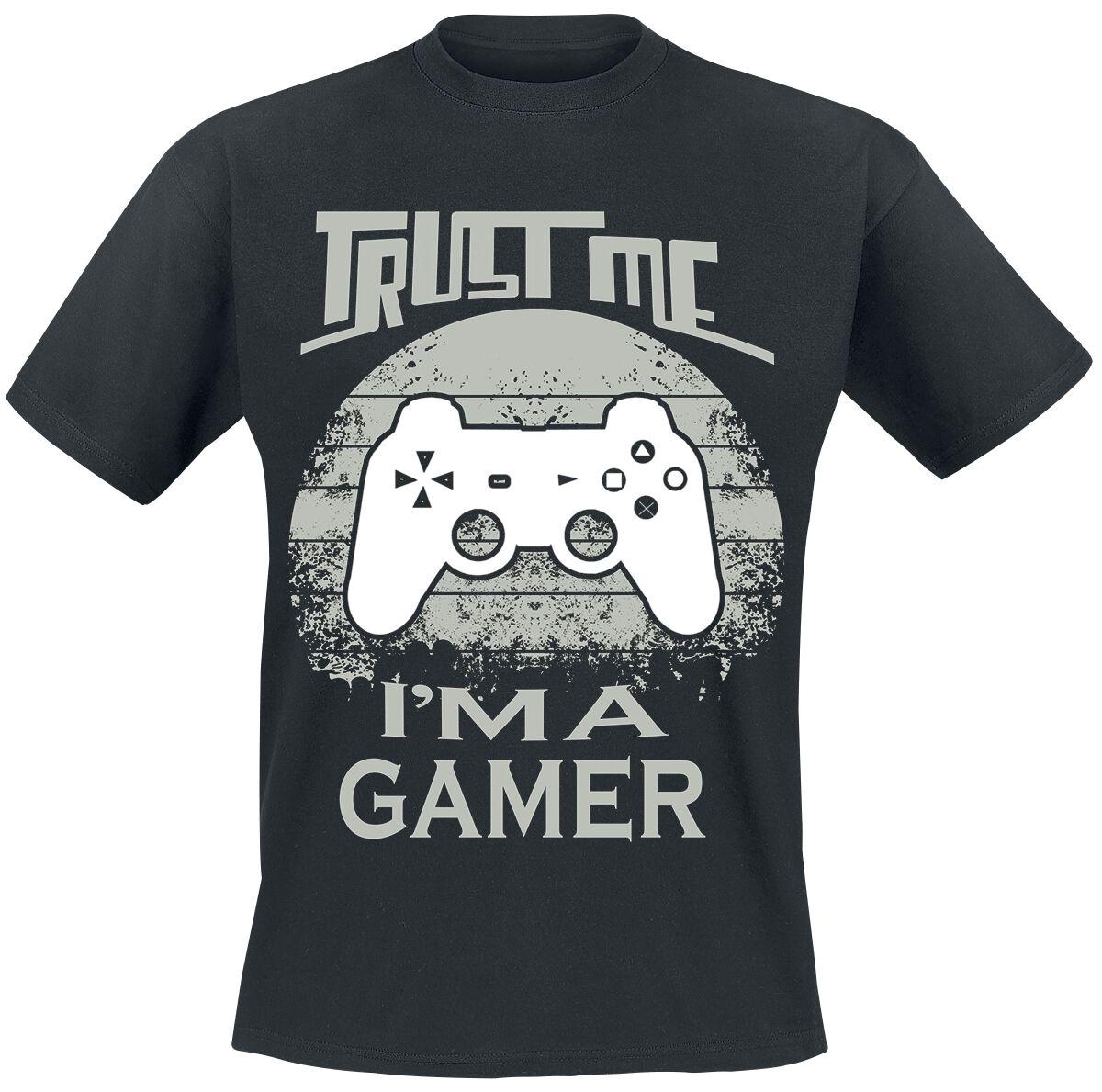 Trust me I'm a gamer Trust me I'm a gamer T-Shirt schwarz POD - Trust me I'm a gamer - Gildan