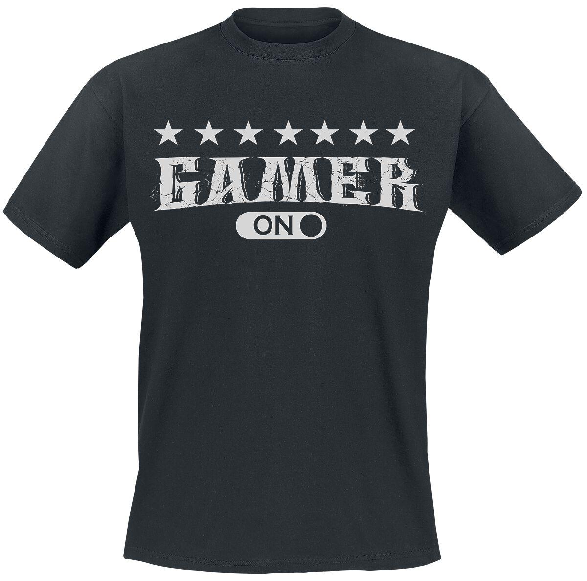 Gamer ON Gamer ON T-Shirt schwarz POD - Gamer ON - Gildan