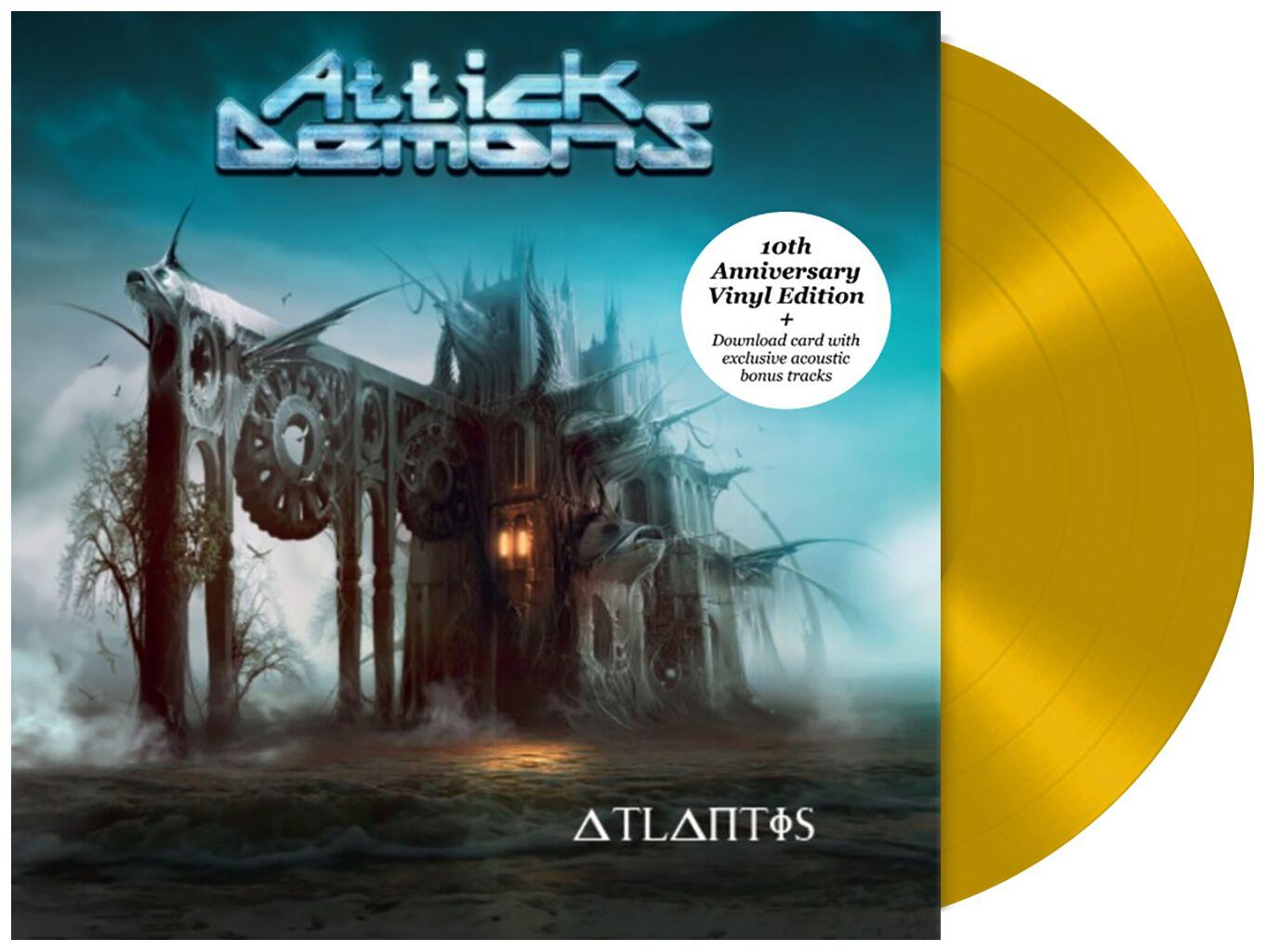 Image of Attick Demons Atlantis - 10 Year Anniversary LP goldfarben