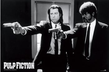 Image of   Pulp Fiction Cover Plakat multifarvet