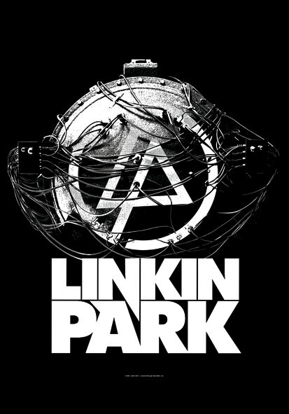 Image of   Linkin Park Atomic Age Flag sort-hvid