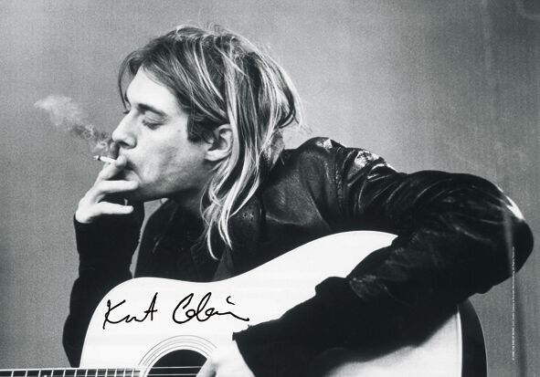 Zespoły - Flagi - Flaga Nirvana Kurt Cobain - Guitar Flaga standard - 806432