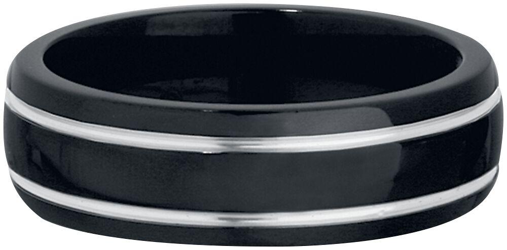 Ringe für Frauen - Black Silver Titan Ring Ring Standard  - Onlineshop EMP