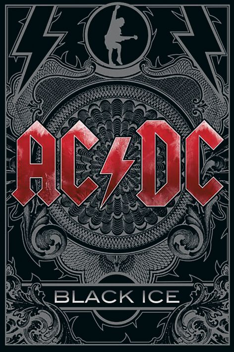 Image of   AC/DC Black Ice Plakat standard